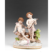 SALE A. W. Fr. Kister Porcelain Grouping, Circa Early 20th C.