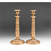SALE Matched Pr. Of French Second Empire Bronze Candlesticks