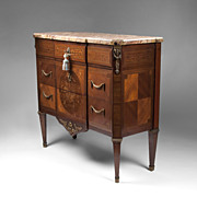 SALE 19th C. Louis XVI Kingwood Commode With Floral Inlay