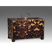 SOLD English Regency Tea Caddy, Double Well