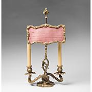 SALE Late 19th C. Louis XV Ormolu Candlestick Lamp