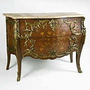 SALE Mid 19th C. Louis XV Kingwood Commode, Manner Of Joseph-Emmanuel Zwiener