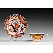 SALE Bloor Period Derby Cup & Saucer, 1800-25, Imari Pattern