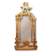 SALE 19th C. French Louis XV Rococo Giltwood and Composition Pier Mirror