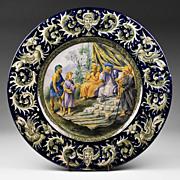 SALE Italian Urbino Style Tin Glazed Majolica Istoriato Plate