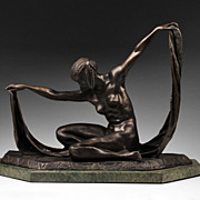 SALE Isis Bronze Sculpture After Claire Jeanne Roberte Colinet