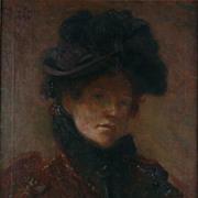 Lilla Cabot Perry O/C Self Portrait, 1892