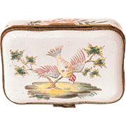 SALE 18th C. French Faience Hand Painted Box