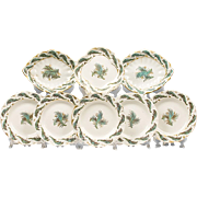 SALE Early 19th C. Set of Samuel Alcock Dessert Plates, 9 Pcs.