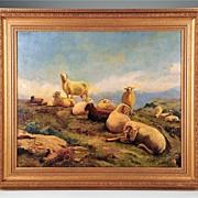 SALE Oil on Board Bucolic Landscape by Francois Auguste Bonheur