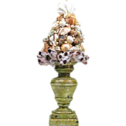 SALE Vintage Tramp Art Shell Topiary
