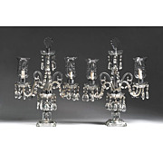 SALE Crystal Two-Light Candelabras