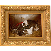 SALE 19th C. Edward Armfield O/C Two Terriers