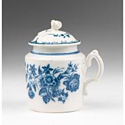 SALE 18th C. Caughley Pot de Crème or Custard Pot With Cover