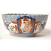 SALE Japanese Edo Period Imari Punch Bowl