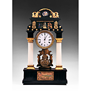 SALE 1820 Austrian Portico Mantel Clock