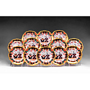 SALE Set of 12 Imari Copeland Spode Plates, Davis Collamore & Co.
