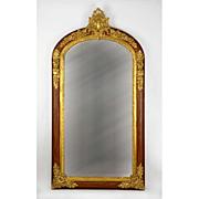 SALE French Napoleon III Bronze Mounted Rosewood Mirror