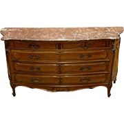 SALE 19th C. Louis XV French Provincial Commode with Marble Top