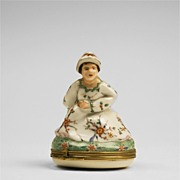 SALE Chantilly Naughty Figural Bonbonniere Box, 18th Century