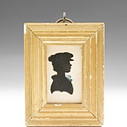 SALE Rare Moses Chapman Hollow Cut Silhouette of Young Boy, 1810
