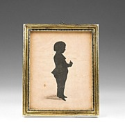SALE Early 19th C. English Cut Out Silhouette of Young Boy
