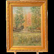 SALE Impressionist Oil On Board by Hamilton
