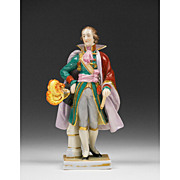SALE Friedrich Wessel Porcelain Figurine of Napoleon General