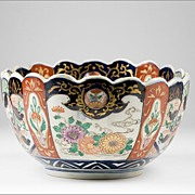 SALE Meiji Period Late 19th C. Japanese Imari Lobed Oval Center Bowl