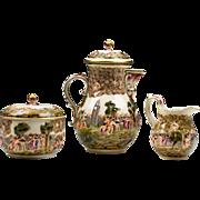 SALE German Porcelain Rudolstadt Capodimonte Style Tea Set