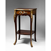 SALE French Louis XV Style Marquetry Petite Pier Table