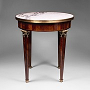 SOLD French Empire Gueridon or Side Table With Marble Top