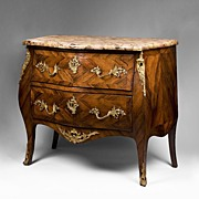SALE 19th C. Louis XV Kingwood Parquetry Commode