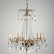 SALE 8 Light Tiered French Crystal Chandelier, Maison Jansen
