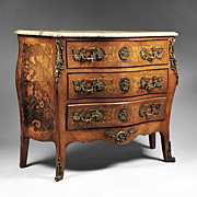 SALE 19th C. French Louis XV Floral Marquetry Commode