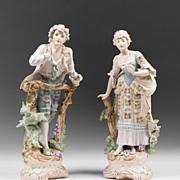 SALE Bohemian C. Haas & Czjzek Bisque Hand Painted Figures