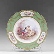SALE Late 19th C. Paris Porcelain Hand Painted Cabinet Plate, Ovington Brothers