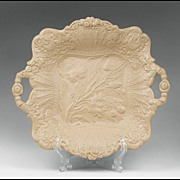 SALE 1830 Ridgway Drabware Molded Cake Plate