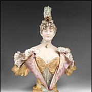 SALE Riessner, Stellmacher & Kessel Amphora Pottery Bust