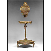 SALE Early 19th Century Venetian Trespoli Candelabrum Stand With Wall Shelf