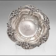 SALE Meriden Sterling Silver Repousse Bowl