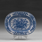 SALE Blue and White Transferware English Blue Willow Platter