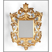 SALE Early 19th C. Florentine Scrolled Giltwood Mirror