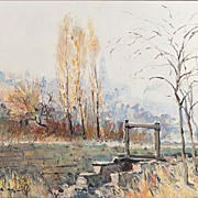 SALE Impressionist Oil On Canvas By Malva