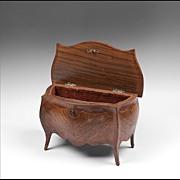 SALE 19th Century French Louis XV Style Kingwood Jewelry Casket