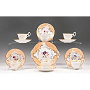 SALE 19th Century Copeland & Garret English China Hand Painted Dessert Set