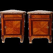SALE Pair of 18th C. Louis XVI  Corner Cabinets or Encoignures
