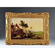 SALE 1913 O/C Pastoral Landscape by Clifford Montague (1858 - 1917)