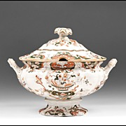 Early 19th C. Mason's Ironstone Japan Pattern Pedestal Soup Tureen