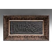 "18th C. Black Basalt Wedgwood ""Bacchanalian Sacrifice"" Plaque"